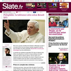 Pédophilie: la tolérance zéro selon Benoît XVI