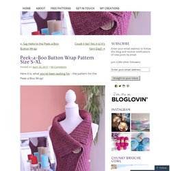 Peek-a-Boo Button Wrap Pattern
