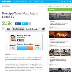 Peel App Takes Next Step in Social TV
