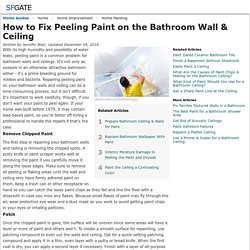 Do you have peeling paint on your bathroom walls or ceiling? Here's how to fix it!