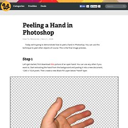 Peeling a Hand in Photoshop