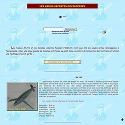 Peenemünde - Les armes secrètes développés