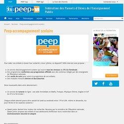 Peep-accompagnement scolaire - PEEP