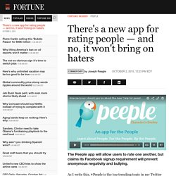 New Peeple App — Like Yelp for People — Won't Bring Haters