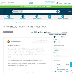 Peer Gateway Feature on the Nexus 7000