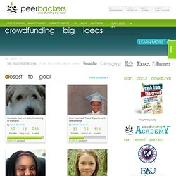 peerbackers | crowdfunding big ideas