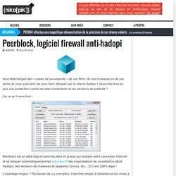 Peerblock, logiciel firewall anti-hadopi