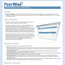 PeerWise - Documentation
