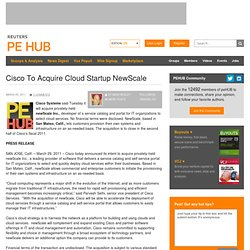 Cisco To Acquire Cloud Startup NewScale
