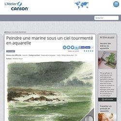 Peindre une marine sous un ciel tourmenté en aquarelle