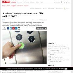A peine 42% des ascenseurs contrôlés sont en ordre