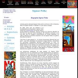 Sigmar Polke peintre : biographie Sigmar Polke, oeuvres et expositions Sigmar Polke