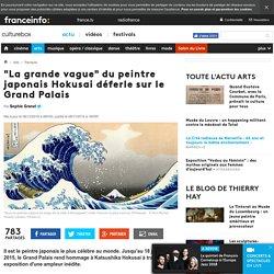 """""""La grande vague"""" du peintre japonais Hokusai déferle sur le Grand Palais"""