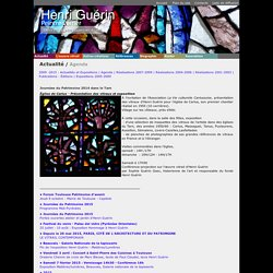 Henri Guérin Peintre Verrier, Actualité / Agenda