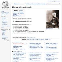 Liste de peintres français