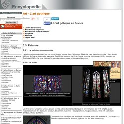 Peinture [Art - L'art gothique->L'art gothique en France]