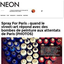 Spray For Paris : quand le street-art répond avec des bombes de peinture aux attentats de Paris (PHOTOS) - neonmag