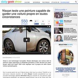 Nissan teste une peinture capable de garder une voiture propre en toutes circonstances