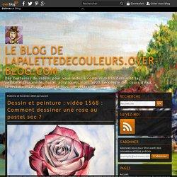 Dessin et peinture : vidéo 1568 : Comment dessiner une rose au pastel sec ?