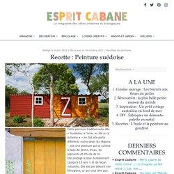 Peinture suédoise, Esprit Cabane, idees creatives et ecologiques