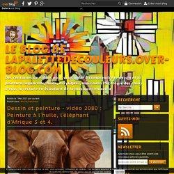 vidéo 2080 : Peinture à l'huile, l'éléphant d'Afrique 3 et 4.
