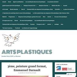 3ème, peinture grand format, Emmanuel Darnault – Arts Plastiques