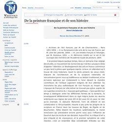 De la peinture française et de son histoire