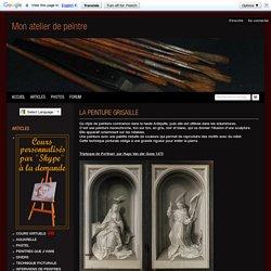 LA PEINTURE GRISAILLE - atelier portrait pastel aquarelle visages dessin regard