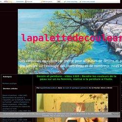 vidéo 1305 : Rendre les couleurs de la peau sur un nu féminin, réalisé à la peinture à l'huile. - lapalettedecouleurs