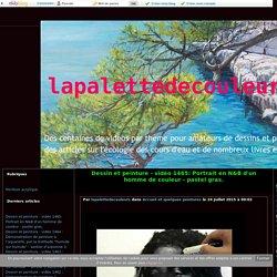 vidéo 1465: Portrait en N&B d'un homme de couleur - pastel gras. - lapalettedecouleurs