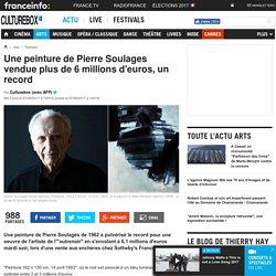 Une peinture de Pierre Soulages vendue plus de 6 millions d'euros, un record