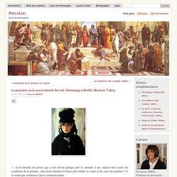 » La peinture ou la souveraineté du voir. Hommage à Berthe Morisot. Valéry.