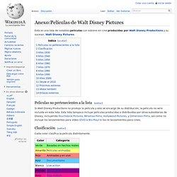 Anexo:Películas de Walt Disney Pictures