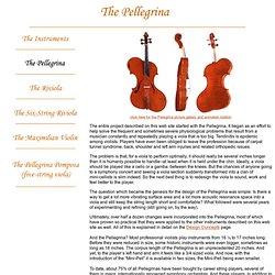 The Pellegrina - David L. Rivinus Violin Maker