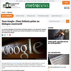 Taxe Google : Fleur Pellerin prône un dialogue constructif