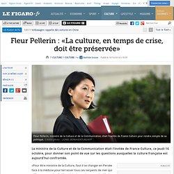 16/10 Fleur Pellerin : «La culture, en temps de crise, doit être préservée»