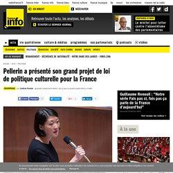 Pellerin a présenté son grand projet de loi de politique culturelle pour la France