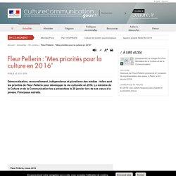 """Fleur Pellerin : """"Mes priorités pour la culture en 2016"""""""