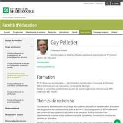 Pelletier, Guy - Faculté d'éducation