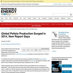 Global Pellets Production Surged in 2014, New Report Says - Renewable Energy World