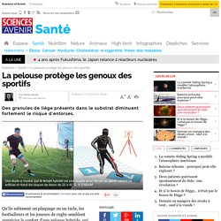 La pelouse protège les genoux des sportifs