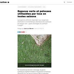 Espaces verts et pelouses utilisables par tous en toutes saisons
