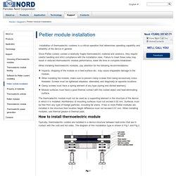 Peltier module installation