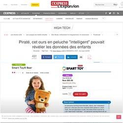 """Piraté, cet ours en peluche """"intelligent"""" pouvait révéler les données des enfants"""