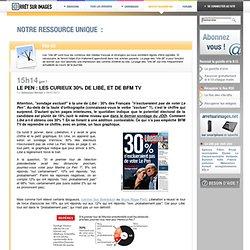 Le Pen : les curieux 30% de Libé, et de BFM TV