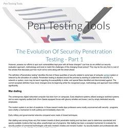 Pen Testing Tools