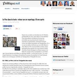 Le Pen dans le texte : retour sur un reportage, 10 ans après