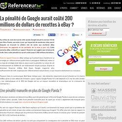 La pénalité de Google aurait coûté 200 millions à eBay ?