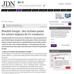 Pénalité Google: des victimes parmi les acteurs majeurs de l'e-commerce