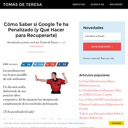 Penalización Google: Cómo Detectarla y Recuperarse